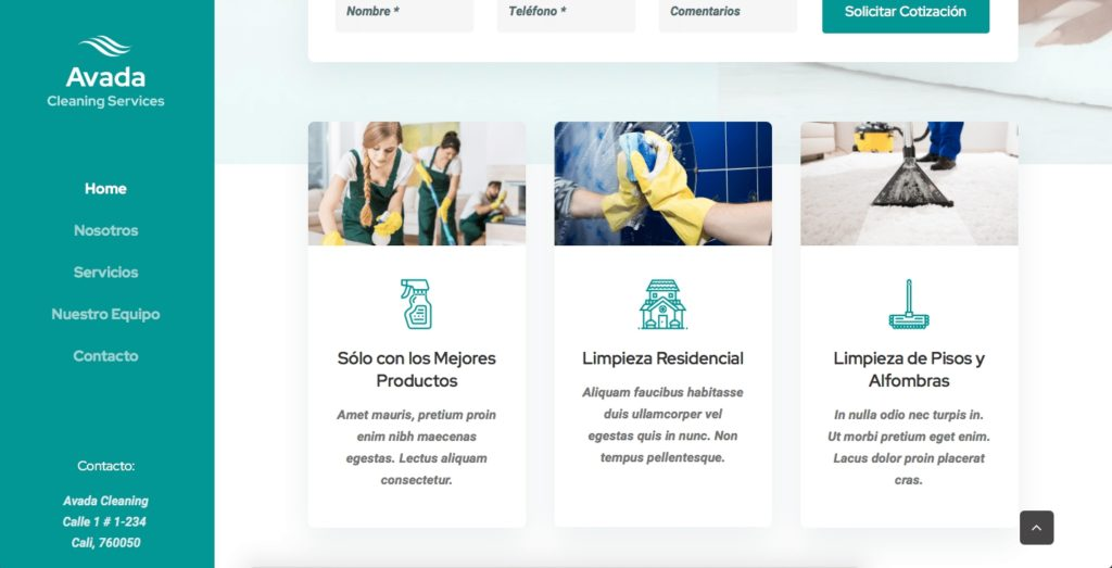 pagina web empresa aseo
