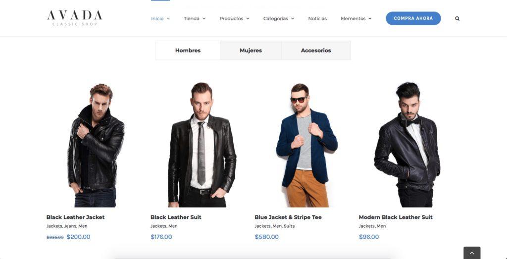tienda virtual ropa
