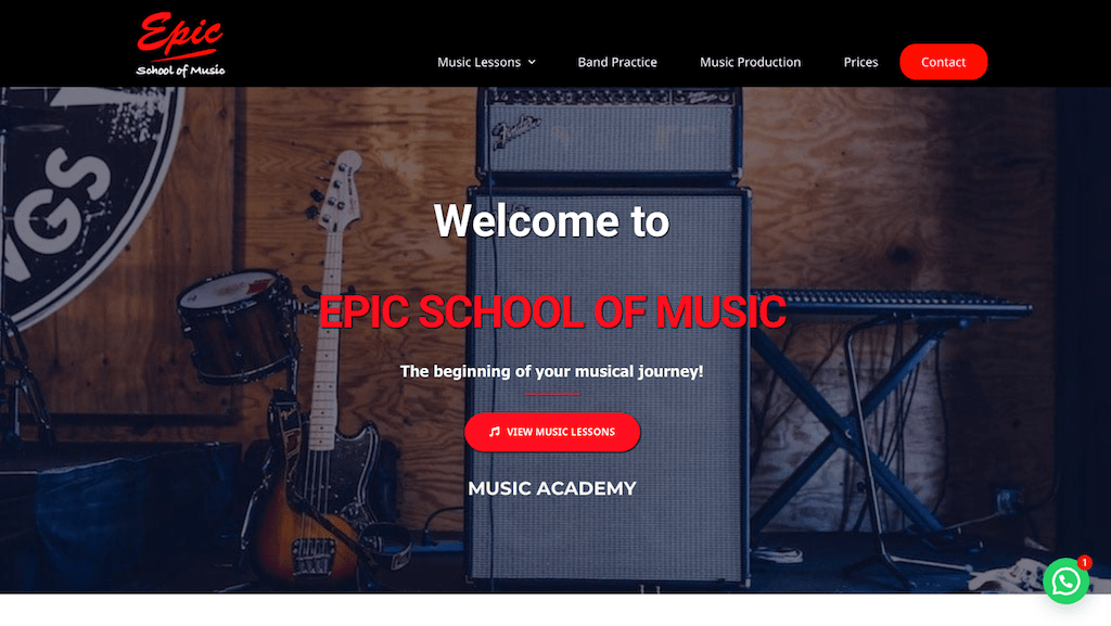 posicionamiento seo epic school of music